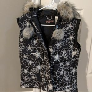 Jansport warm floral vest